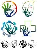 Grupo do logotipo do trabalho da equipe Foto de Stock Royalty Free