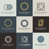 Grupo do logotipo do vetor do negócio