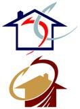 Grupo do logotipo dos motores ilustração do vetor