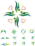 Grupo do logotipo dos pares Imagens de Stock Royalty Free