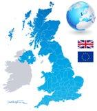 Grupo do mapa do vetor de Reino Unido Imagem de Stock Royalty Free