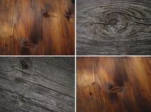 Grupo do marrom de madeira das texturas fotos de stock royalty free