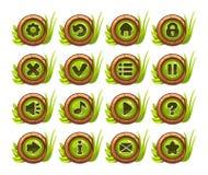 Grupo do menu dos botões dos desenhos animados Fotos de Stock Royalty Free