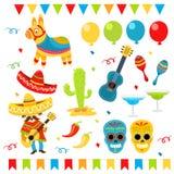 Grupo do mexicano ilustração stock