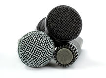 Grupo do microfone imagem de stock royalty free