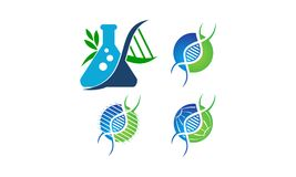 Grupo do molde da genética do ADN ilustração do vetor
