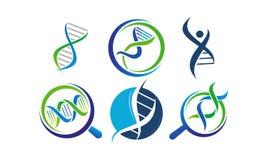 Grupo do molde da genética do ADN ilustração royalty free