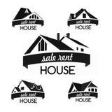 Grupo do molde do logotipo da casa foto de stock