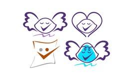 Grupo do molde do vetor do logotipo Imagens de Stock