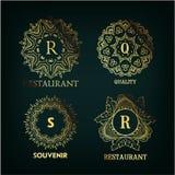Grupo do monograma do luxo, o simples e o elegante ilustração stock