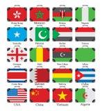 Grupo do mundo das bandeiras Imagem de Stock Royalty Free