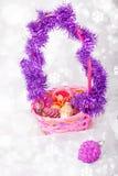 Grupo do Natal de decorações Foto de Stock