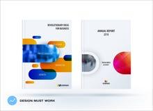 Grupo do negócio de folheto do projeto, informe anual abstrato, inseto horizontal da tampa ilustração do vetor