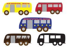 Grupo do ônibus Imagem de Stock Royalty Free