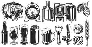 Grupo do objeto da cerveja Fotos de Stock