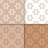 Grupo do papel de parede de testes padrões sem emenda bege marrons com ornamento florais Foto de Stock