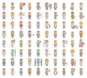 Grupo do pixel de povos Imagem de Stock Royalty Free