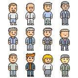 Grupo do pixel de povos Fotografia de Stock Royalty Free