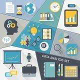 Grupo do plano da análise de dados Imagens de Stock Royalty Free