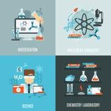 Grupo do plano da química ilustração stock