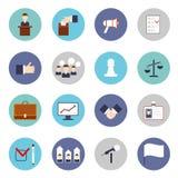 Grupo do plano dos ícones das eleições ilustração do vetor