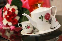 Grupo do potenciômetro do chá fotografia de stock royalty free
