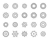 Grupo do prêmio de linha ícones do ajuste ilustração do vetor