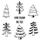 Grupo do projeto da árvore de Natal Fotografia de Stock Royalty Free