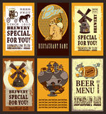 Grupo do projeto da cerveja Imagens de Stock Royalty Free