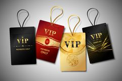 Grupo do projeto das etiquetas do Vip Foto de Stock Royalty Free