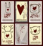 Grupo do projeto de etiquetas para o dia de Valentim Imagem de Stock Royalty Free