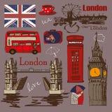 Grupo do projeto do estilo de Londres Fotos de Stock
