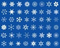 Grupo do projeto dos flocos de neve Fotografia de Stock