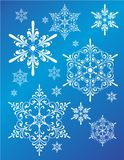 Grupo do projeto do floco de neve da fantasia ilustração royalty free