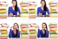 Grupo do quadrado da emoção de menina do estudante Imagem de Stock