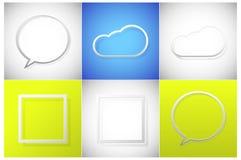 Grupo do quadro de texto Fotos de Stock