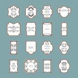 Grupo do quadro do vintage Elementos caligráficos do projeto Imagem de Stock Royalty Free