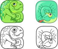 Grupo do réptil de imagens ilustração stock