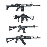 Grupo do rifle da arma ilustração royalty free