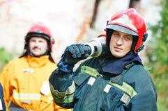 Grupo do sapador-bombeiro Fotografia de Stock Royalty Free