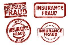 Grupo do selo da tinta da fraude do seguro Fotos de Stock Royalty Free