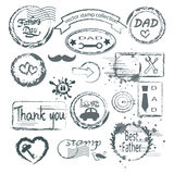 Grupo do selo do dia do ` s do pai ilustração royalty free