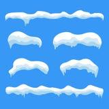 Grupo do sincelo do gelo da neve ilustração royalty free