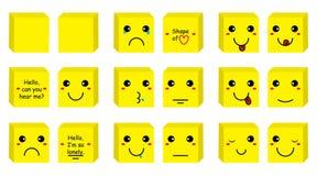 Grupo do smiley da caixa Fotos de Stock