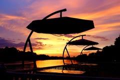 Grupo do sol de Kwai do rio Imagens de Stock Royalty Free