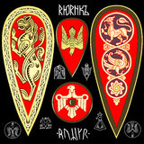 Grupo do symbolics do rei Rurik Foto de Stock