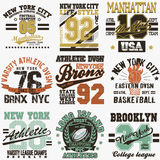 Grupo do t-shirt de New York Imagem de Stock