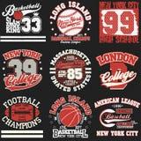 Grupo do t-shirt do esporte Imagem de Stock