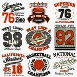 Grupo do t-shirt do esporte Fotografia de Stock