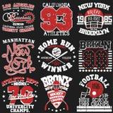 Grupo do t-shirt do esporte Fotografia de Stock Royalty Free